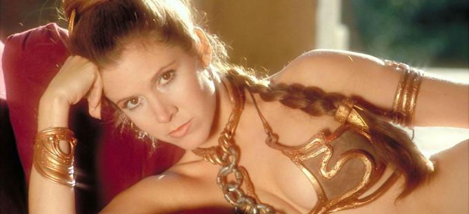 La Princesa Leia como esclava de Jabba the Hutt en Star Wars