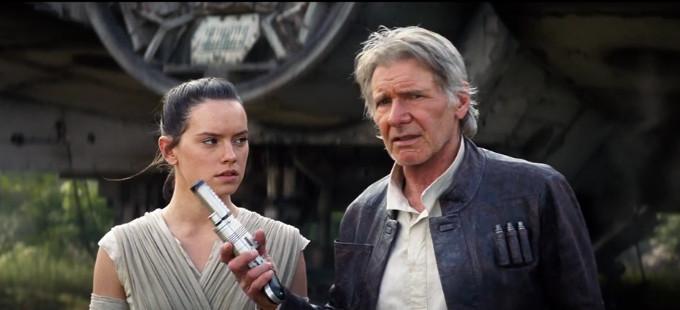 Star Wars: The Force Awakens - Rey y Han Solo