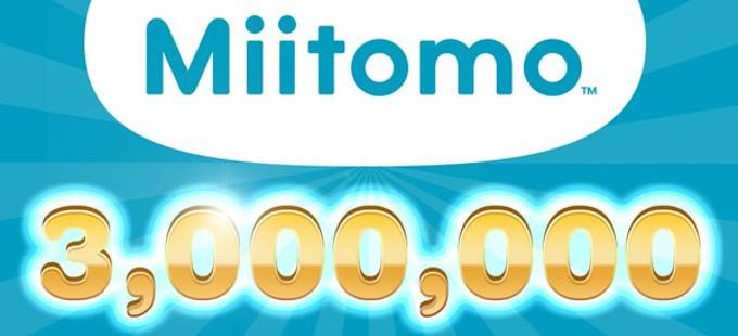 Miitomo llega a los tres millones de usuarios