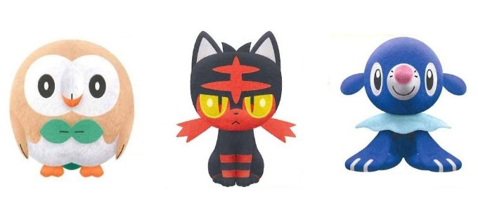 Reserva ya los nuevos peluches de Pokémon Sun & Moon