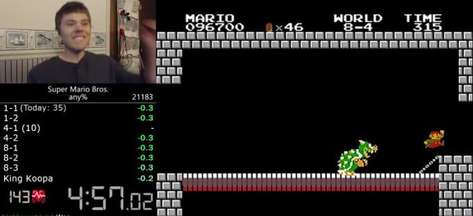 El récord de tiempo de Super Mario Bros. es roto de nuevo