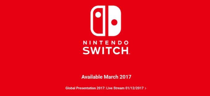 La presentación del Nintendo Switch ya tiene hora