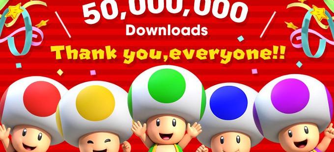 Super Mario Run rebasa las 50 millones de descargas
