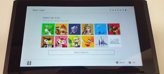 Esto verás al prender tu Nintendo Switch por primera vez