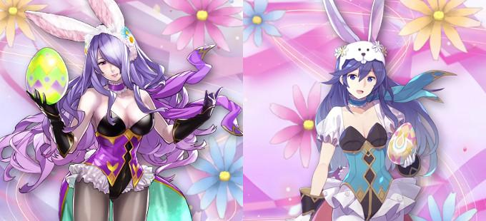 Camilla y Lucina como conejitas en Fire Emblem Heroes por la Pascua