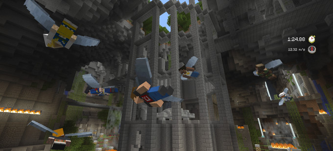 El minijuego Glide arriba mañana a Minecraft Wii U Edition
