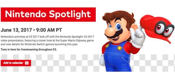Nintendo anuncia el Nintendo Spotlight: E3 2017