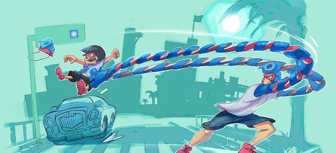 ¿Cómo obtuvieron sus largos brazos los peleadores de ARMS para Nintendo Switch?