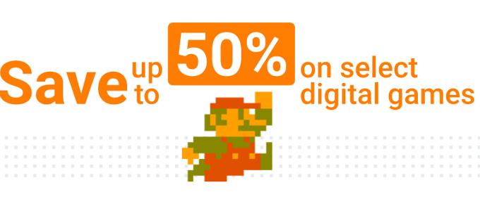 ¡Consigue hasta un 50% de descuento en juegos de la eShop de Nintendo!