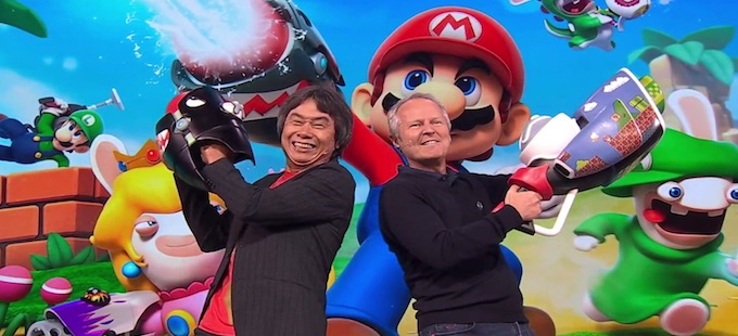 Guillemot y Miyamoto presentan Mario + Rabbids Kingdom Battle para Nintendo Switch