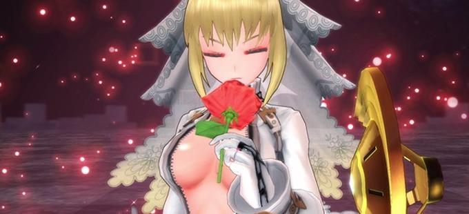 Así se ve el traje Unshackled Bride en Fate/EXTELLA para Nintendo Switch