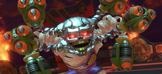 Nuevo modo de juego con Hedlok llega mañana a ARMS para Nintendo Switch