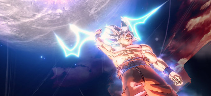 Goku Ultra Instinct en acción en Dragon Ball Xenoverse 2 para Nintendo Switch