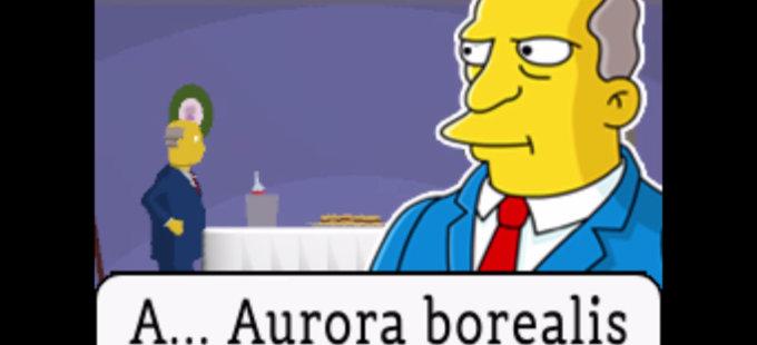 Hamburguejas al Vapor de Los Simpson estilo Ghost Trick