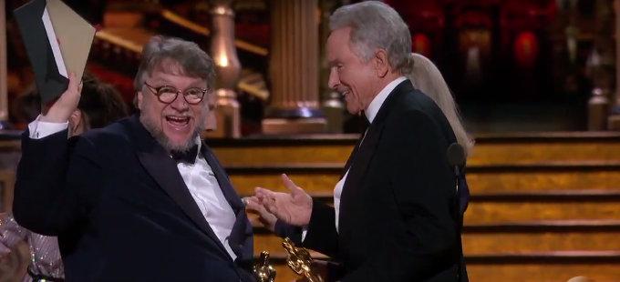 La forma del agua gana el Óscar a Mejor Película