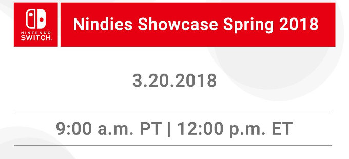 Nintendo Switch Nindies Showcase Spring 2018 para el martes
