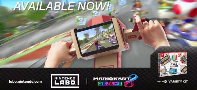 Mario Kart 8 Deluxe para Nintendo Switch ahora funciona con Nintendo Labo