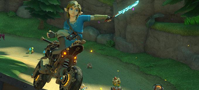 ¿Cómo llegaron el nuevo Link y su moto a Mario Kart 8 Deluxe?