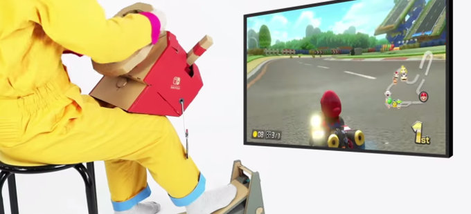 Nintendo Labo Vehicle Kit, compatible con Mario Kart 8 Deluxe