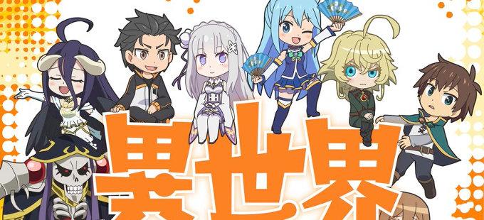 Isekai Quartet, el crossover de Overlord, Re:Zero, KonoSuba y Youjo Senki
