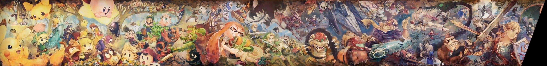 Mural del Classic Mode de Super Smash Bros. Ultimate