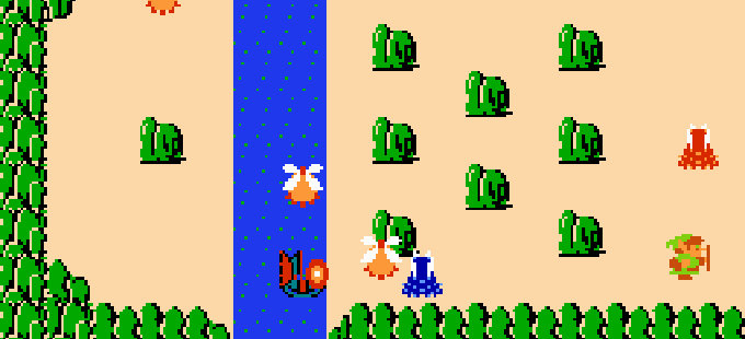 The Legend of Zelda para NES tiene un World -1