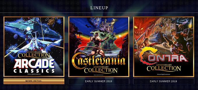 Konami, Contra y Castlevania Anniversary Collection para Nintendo Switch anunciadas