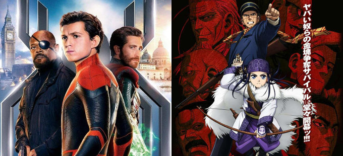 Golden Kamuy promueve Spider-Man: Far From Home en Japón