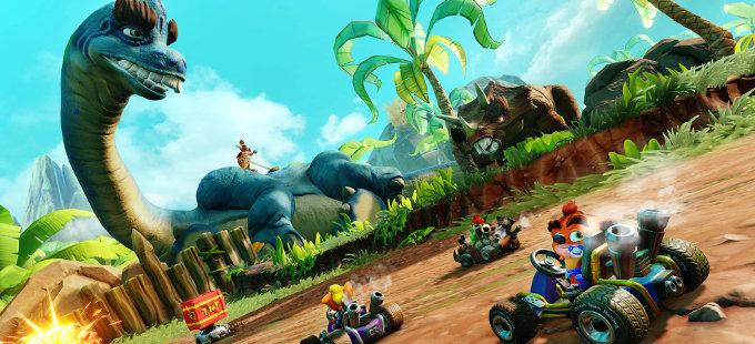 "Crash Team Racing Nitro-Fueled tendrá contenido ""prehistórico"""
