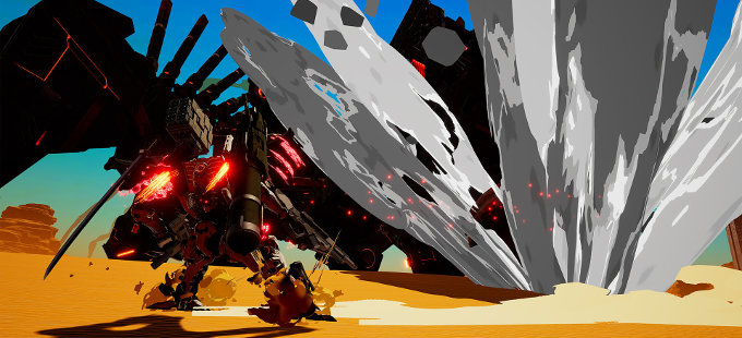 Mirando las opciones de DAEMON X MACHINA para Nintendo Switch