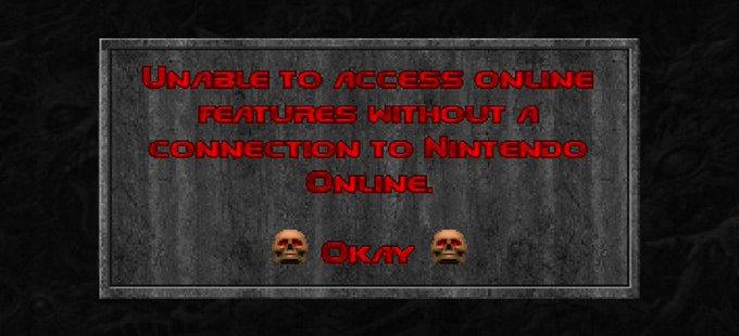 El login de Doom, Doom II y Doom 3 para Nintendo Switch será opcional