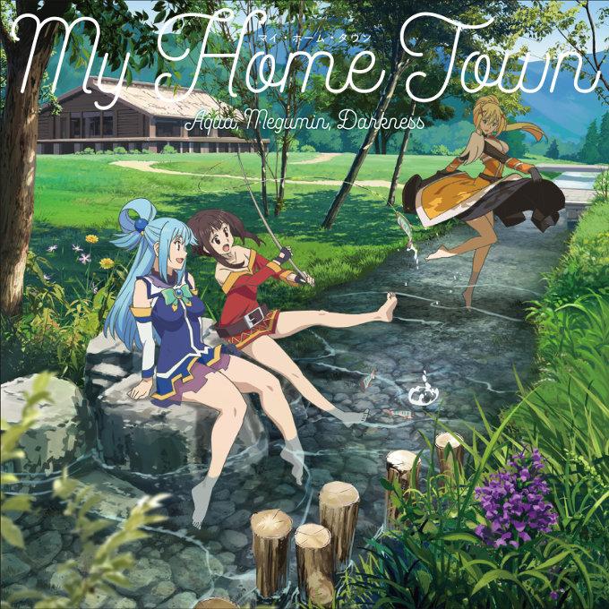 KonoSuba: Escucha My Home Town cantada por Aqua, Darkness, Megumin