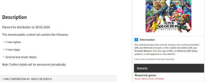 Super Smash Bros. Ultimate: El próximo peleador podría ser de SNK