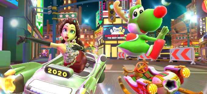 Mario Kart Tour: Conoce los nuevos personajes, vehículos y pistas del Holiday Tour