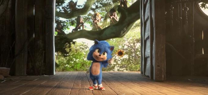 Baby Sonic deslumbra en la película de Sonic the Hedgehog