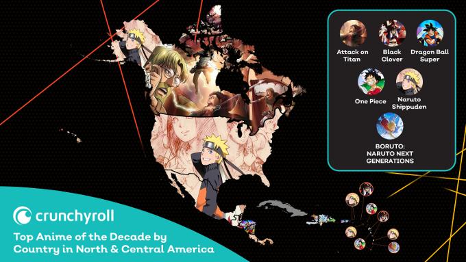 ¿Cuáles son los anime de la década más vistos en México y LATAM?