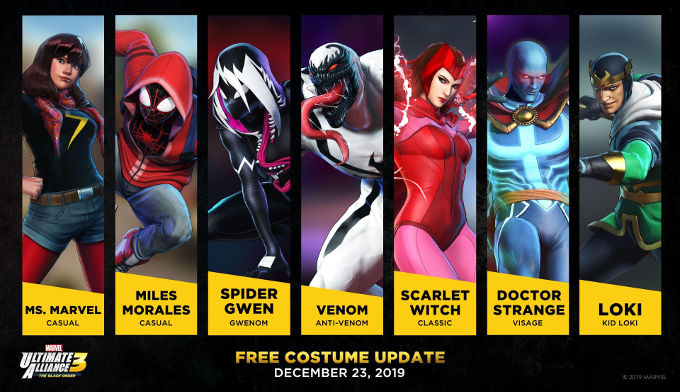 "Marvel Ultimate Alliance 3 sufre una ""filtración"" de DLC"