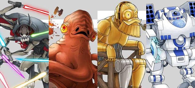 Si los personajes de Star Wars fueran Pokémon quizá así serían