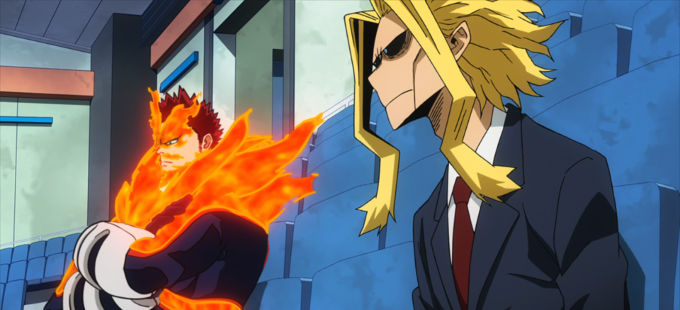 Boku no Hero Academia: All Might felicita a Endeavor por su '¡Plus Ultra!'